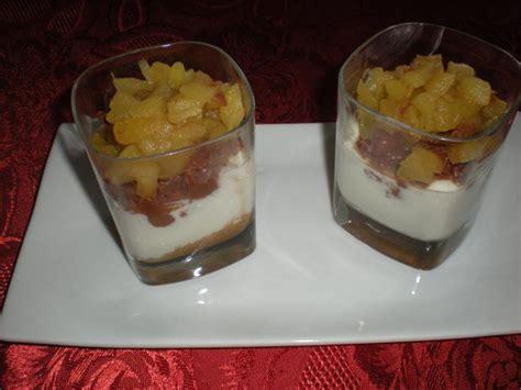 dessert aux pommes et chocolat recette verrines aux spculoos chocolat et pommes recette verrines aux spculoos chocolat et