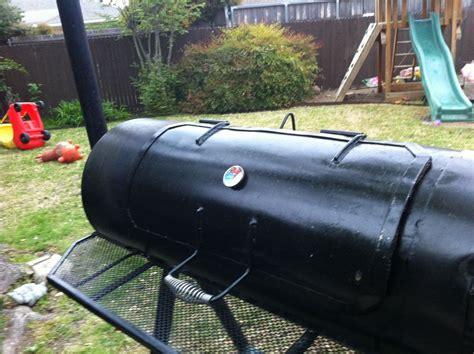 texas smoker   hot water tank backyard bbq metal