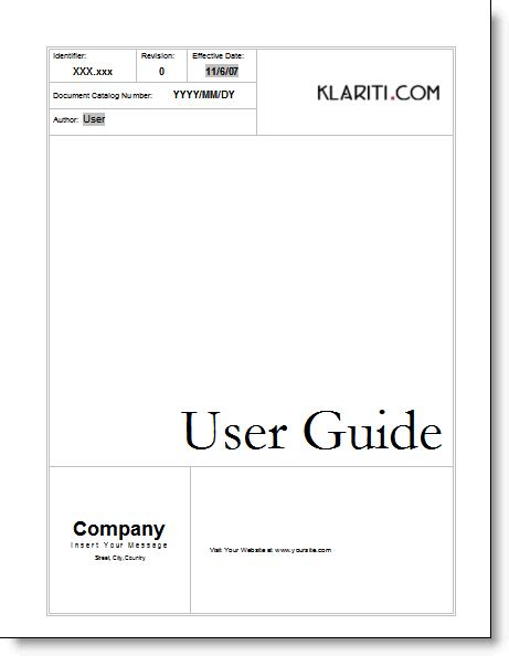 manual template word 8 user manual templates word excel pdf formats