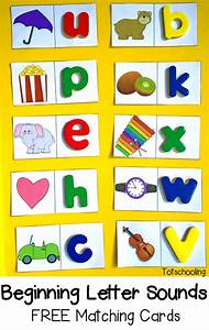 beginning letter sounds free matching cards With alphabet letter sounds games
