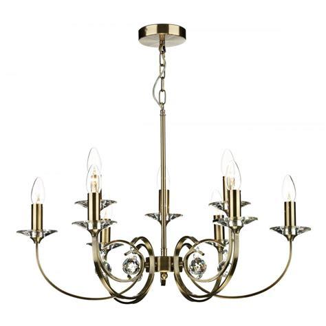 allegra antique brass chandelier pendant for high ceilings