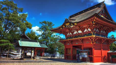 shrine gate  grounds ultra hd desktop background