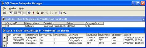 sql trigger audit table changes point limited products