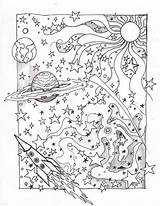 Coloring Space Deviantart Pages Solar Planet Books Adults Sheets System sketch template