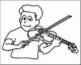 Violin Playing Clipart Clip Boy Coloring Drawing Abcteach Loring Kid Instrument Illustration Getdrawings Clipground sketch template