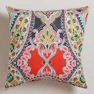 warm venice paisley outdoor throw pillow at cost plus With average cost of a pillow
