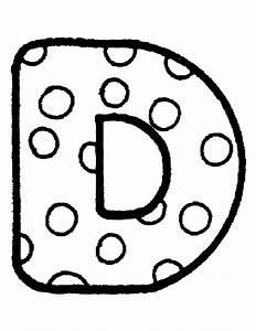 Letter d hele alfabet taal letter kleurplaten for Dots alphabet letter