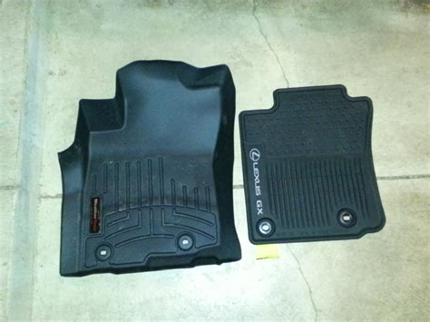 weathertech floor mats vs lexus all weather floor mats vs weathertech club lexus forums