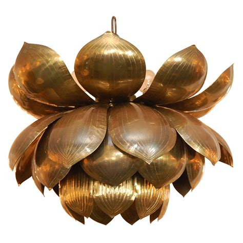 1st dibs brass lotus flower chandelier copy cat chic