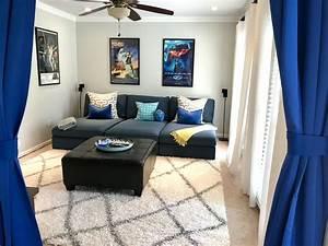 Große Couch In Kleinem Raum : ikea kivik chaise couch hillared dark blue movie room ~ Lizthompson.info Haus und Dekorationen