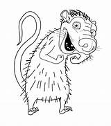 Opossum Coloring Age Ice Drawing Virginia Pages Animals Getdrawings Getcolorings Colouring Printable Possums sketch template