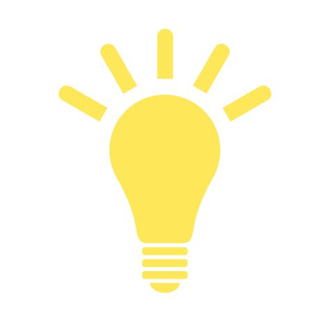 fichier light bulb yellow icon svg wiktionnaire