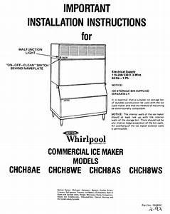 Whirlpool Chch8ae Installation Instructions Manual Pdf