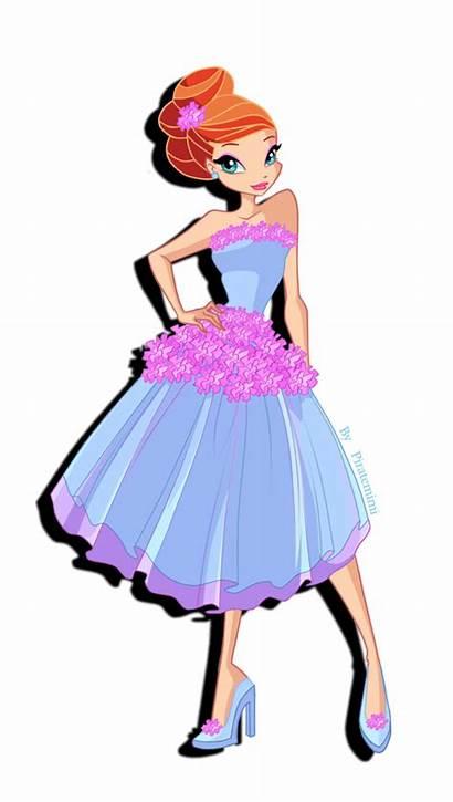 Bloom Winx Club Season Princess Dresses Flower
