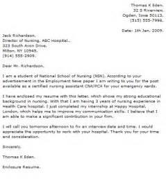 free student nurse resume template nursing cover letter exles cover letter now
