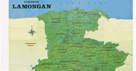 peta kota peta kabupaten lamongan