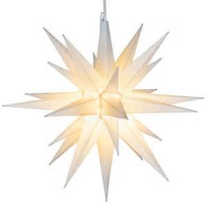 Moravian Star Light by Moravian Stars 14 Quot White Led Moravian Star