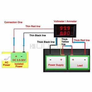 10a Digital Voltmeter  U0026 Ammeter Dual Led Color 2in1