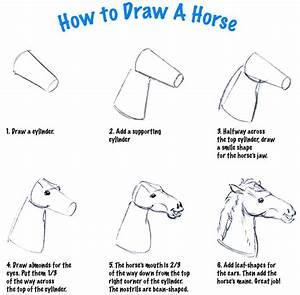 How to draw a horse head. | Step by step drawings | Pinterest