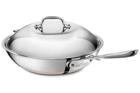 clad copper core chefs pan  quart cutlery