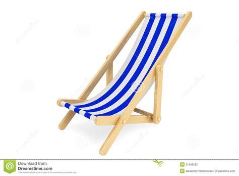chaise de plage 3d chair stock photography image 31949292