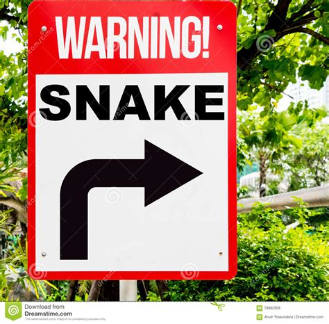 snake warning sign yellow venomous serpent hazard