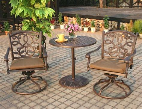 patio furniture bistro set cast aluminum 30 quot table 3pc