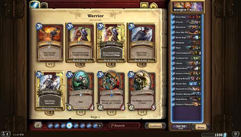 warrior deck hearthpwn icy 72 wr otk patron warrior hearthstone decks