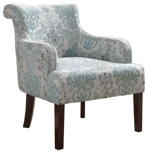 living room accent arm chair teal and light blue
