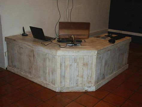 diy rustic office desk pallet reception desk and a table 101 pallets