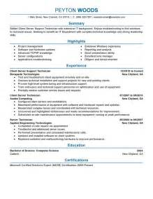 Engineering Technician Cover Letter Client Server Technician Resume Exles It Resume Sles Livecareer