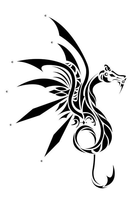 Wyvern Tattoo by ~Neakaborn2light   Even I have a dark side   Dragon tattoo designs, Tribal