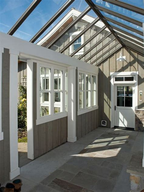 sunroom attached to house enclosed garage breezeway home design ideas pictures remodel and decor