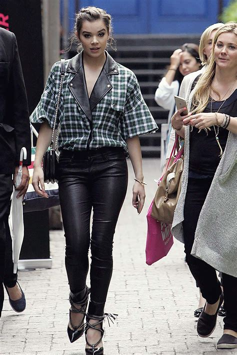 hailee steinfeld   toronto leather celebrities