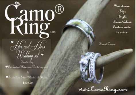 Camo His & Hers Wedding Ring Set Wholesale Urban Women's Jewelry Womens Navy Opals Chanel Like Pearl Tutorials Canada Orlando Pendant