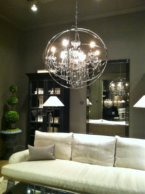 restoration hardware light fixture decorating the