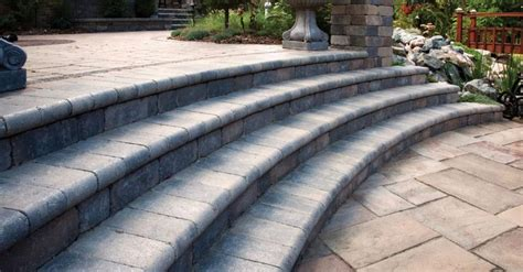 unilock retaining wall stunning coping options for your retaining wall and steps