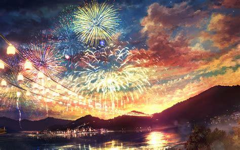 Anime Fireworks Wallpaper Hd by Ah44 Firework Anime Illust Wallpaper