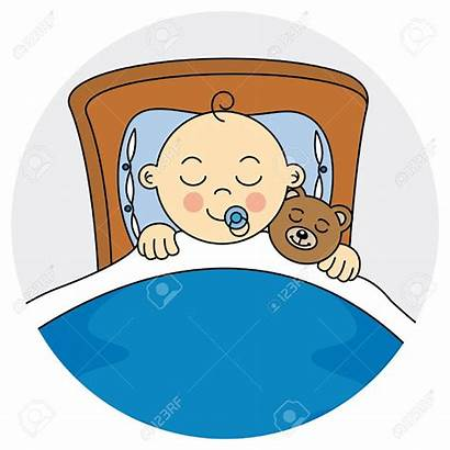 Sleeping Clipart Boy Child Clip Vector Arrival