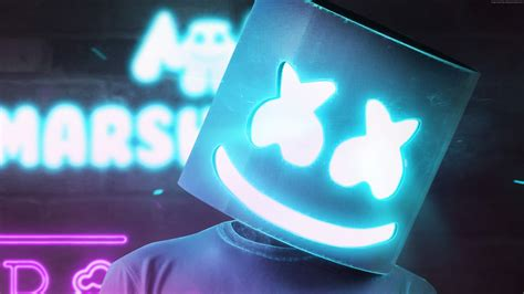 4k Resolution Neon Marshmello Wallpaper 3d by Wallpaper Dj Marshmello Dj Neon 4k