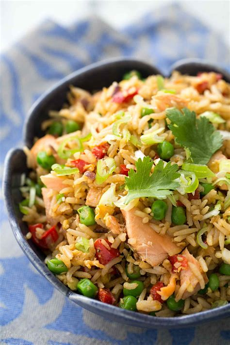 salmon fried rice recipe simplyrecipes