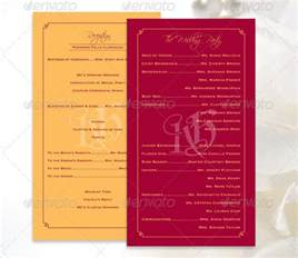 wedding program templates 17 wedding program template free premium templates