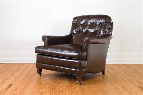 tufted leather club chair homestead seattle