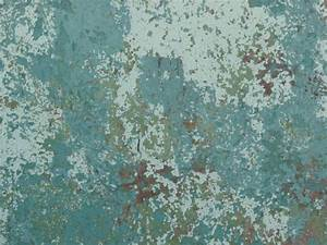 Very old metal texture with peeling blue paint and small ...