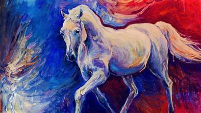 Painting Horse Wallpapers Backgrounds Modern Designs Psd
