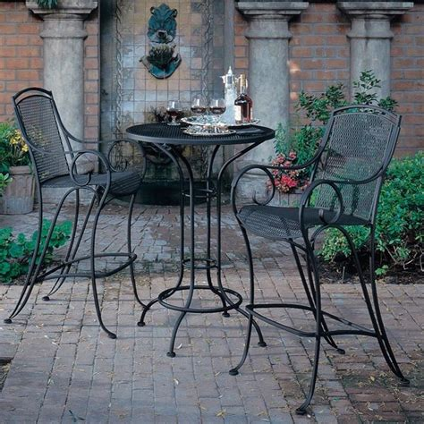 patio bistro table and chair set outdoor pub and bistro