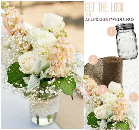 Lace and Burlap Mason Jar Centerpieces