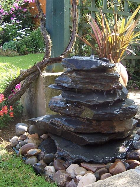 600mm Slate Pyramid Water Feature - Welsh Slate Water Features