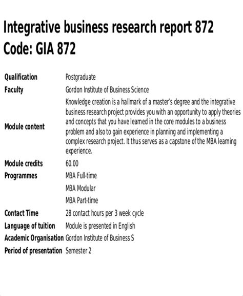 research report templates  apple pages google