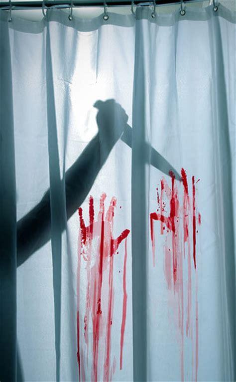 blood bath shower curtain and bath mat the green